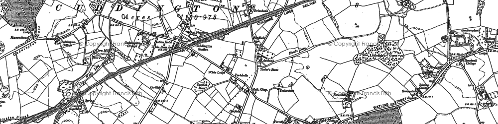 Old map of Cuddington in 1897