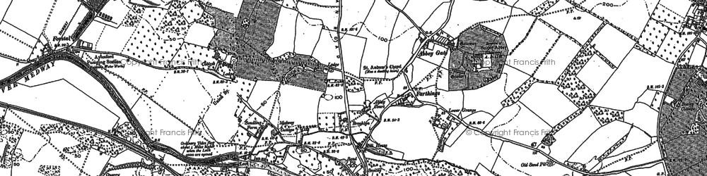 Old map of Abbey Gate in 1895