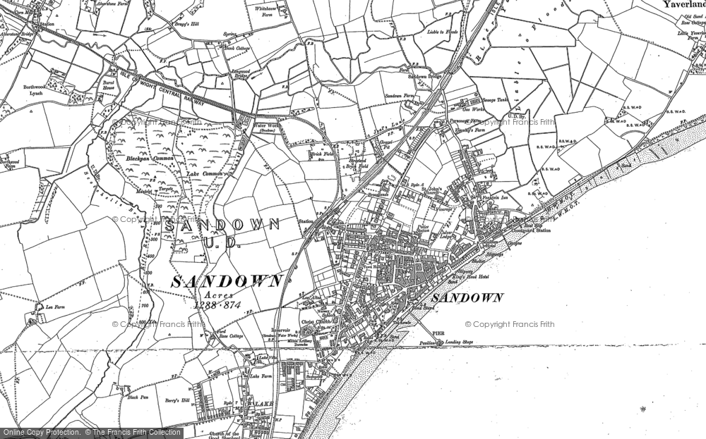 Old Map of Historic Map covering Adgestone in 1907