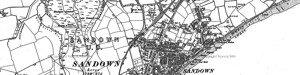 Old map of Adgestone in 1907