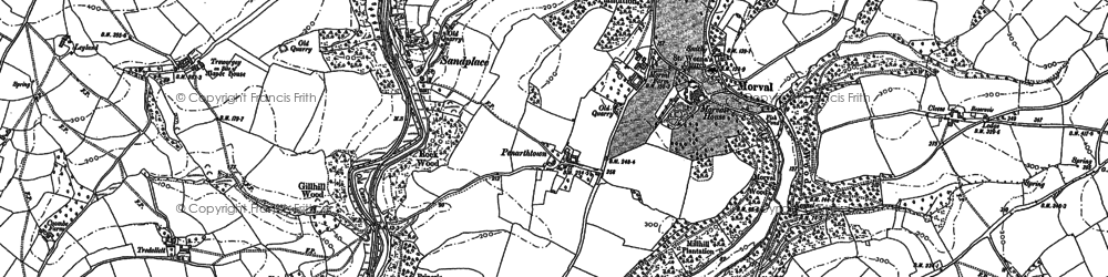 Old map of Sandplace in 1881
