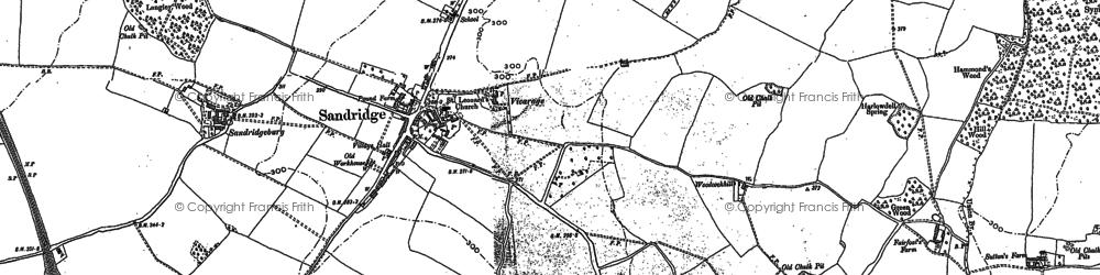 Old map of Sandridge in 1896