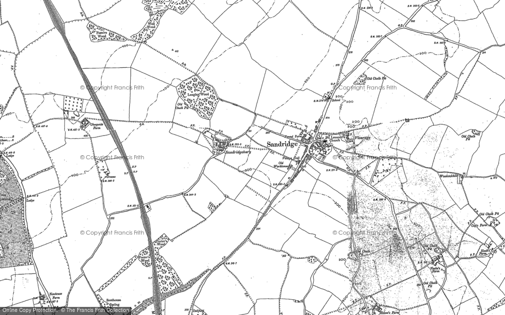 Old Map of Historic Map covering Ayres End in 1896