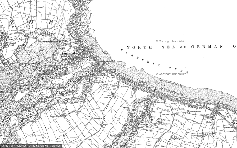 Old Map of Sandsend, 1911 - 1913 in 1911