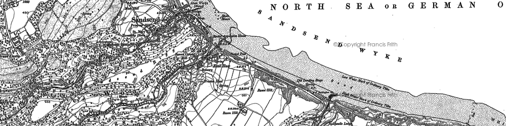 Old map of Sandsend in 1911