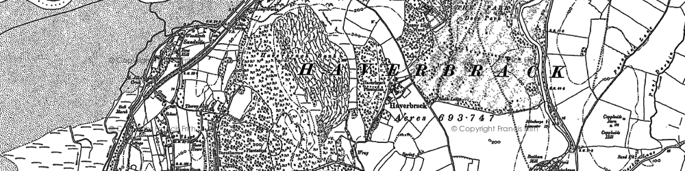Old map of Wray Cott in 1911