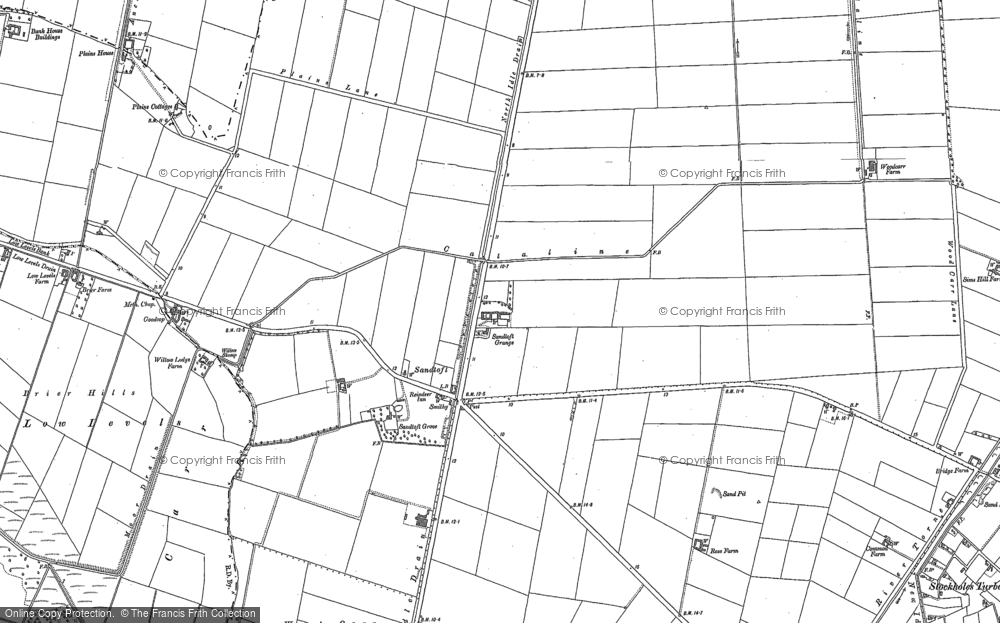 Old Map of Historic Map covering Lindholme Grange in 1905