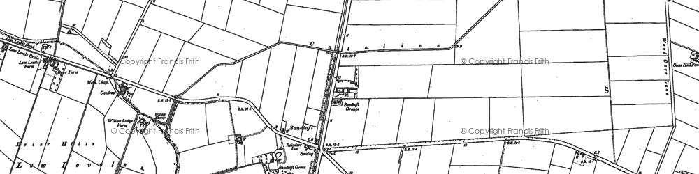 Old map of Lindholme Grange in 1905
