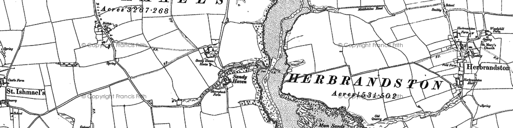 Old map of Bicton in 1948