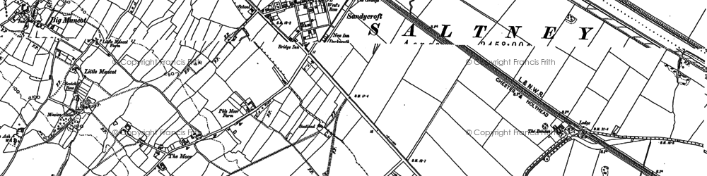 Old map of Sandycroft in 1898