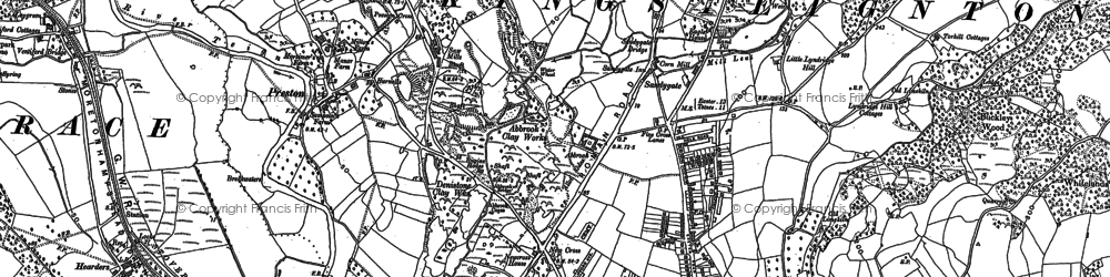 Old map of Lindridge Hill in 1887