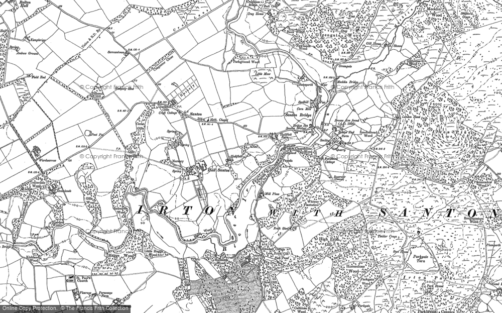 Old Map of Historic Map covering Wood End in 1898