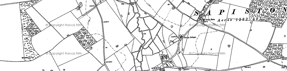 Old map of Lanket's Grove in 1882