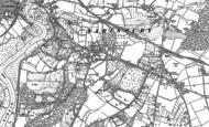 Old Map of Sarisbury, 1895 - 1896