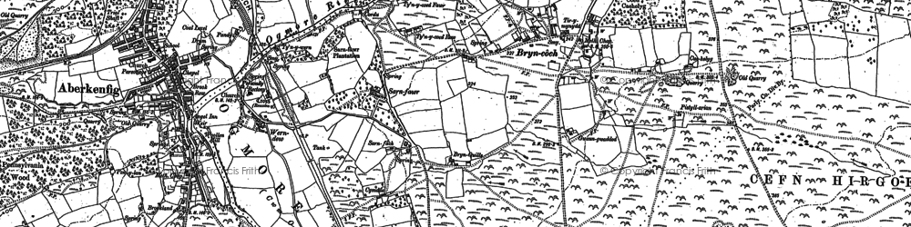 Old map of Sarn in 1897