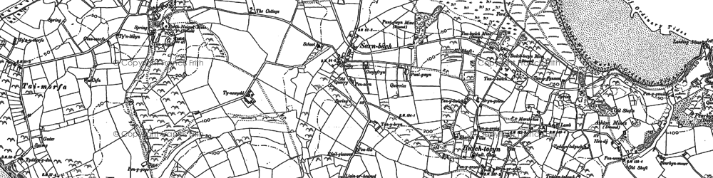 Old map of Sarn-bâch in 1888