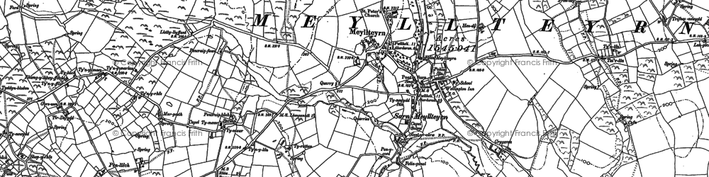 Old map of Afon Soch in 1888