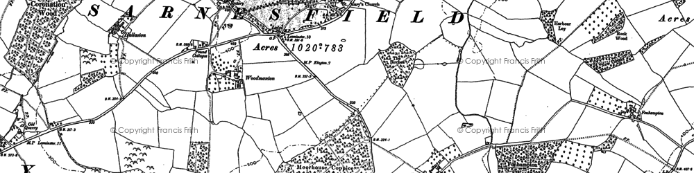 Old map of Sarnesfield in 1886