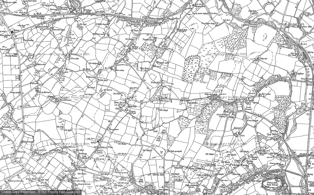 Old Map of Saron, 1905 in 1905