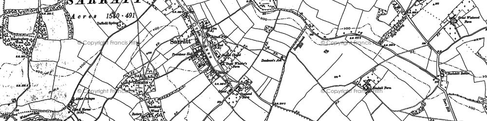 Old map of Church End in 1923
