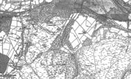 Old Map of Satnall Hills, 1881