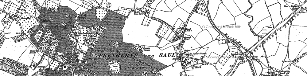 Old map of Wick Court in 1879