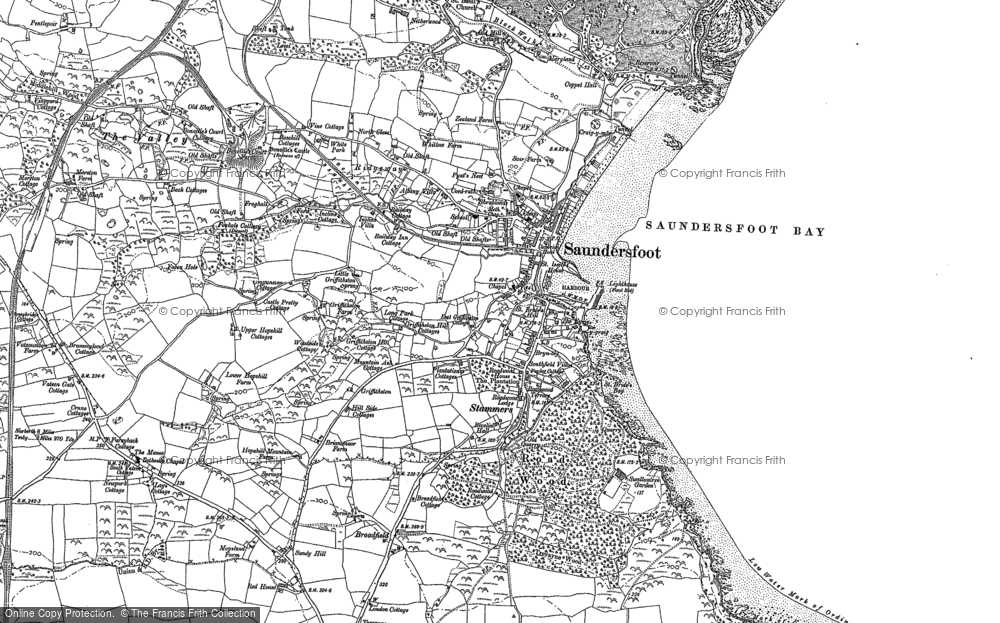 Old Map of Saundersfoot, 1887 - 1906 in 1887