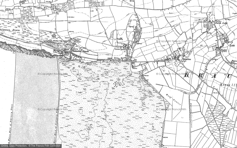 Old Map of Saunton, 1903 in 1903