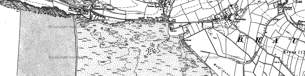Old map of Saunton in 1903