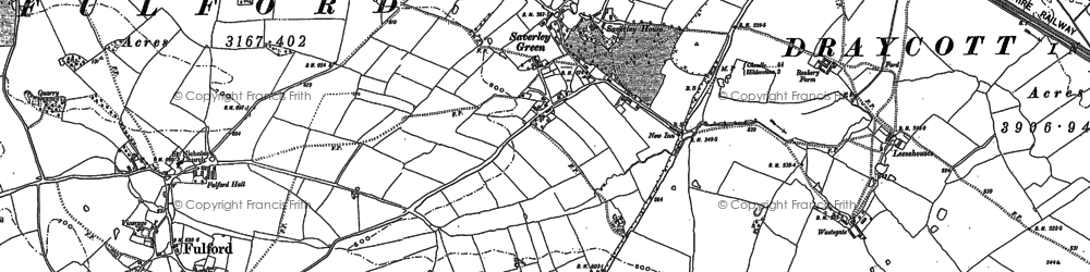 Old map of Leacroft Hall in 1879