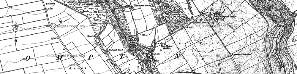Old map of Wykeham Grange in 1889