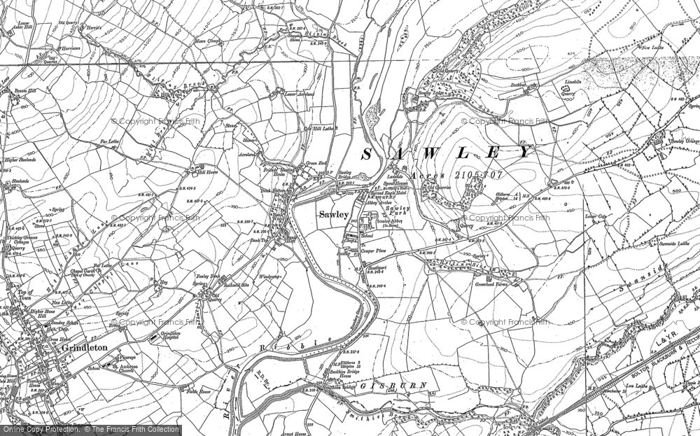 Old Map of Historic Map covering Lawson Ho in 1893