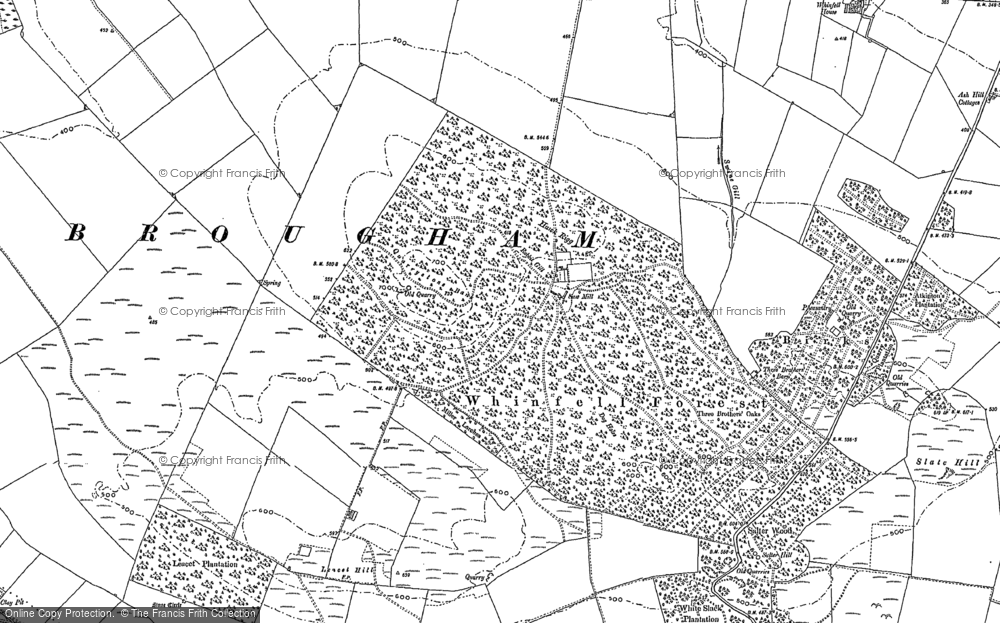 Old Map of Historic Map covering Ash Hill in 1897