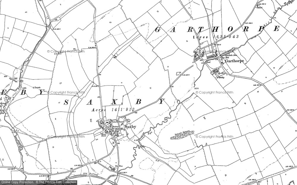Old Map of Saxby, 1902 in 1902