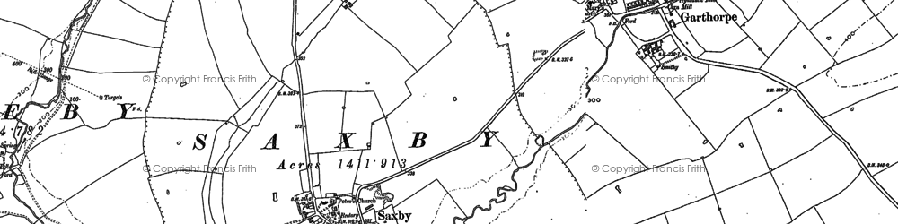 Old map of Saxby in 1902