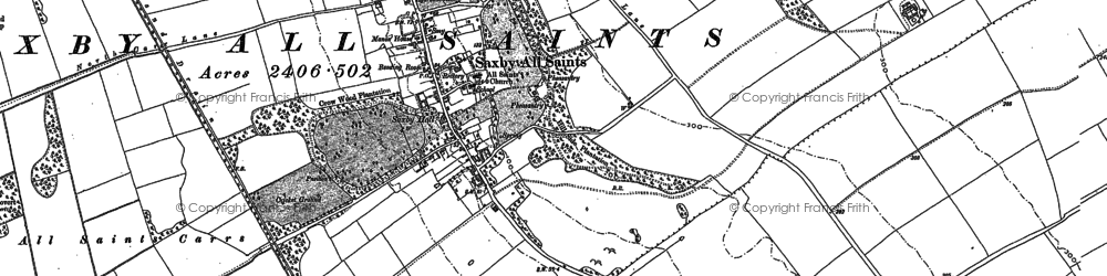 Old map of Youll Close in 1886