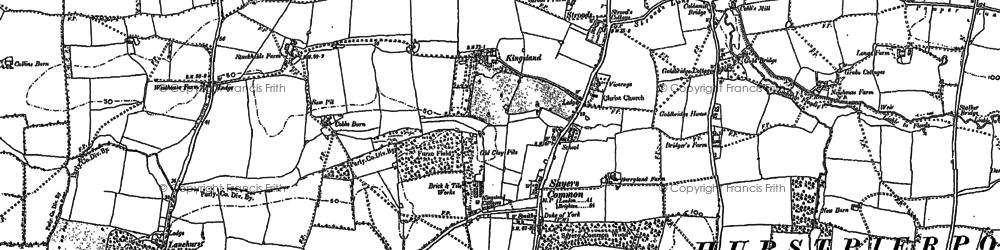 Old map of Lanehurst in 1896