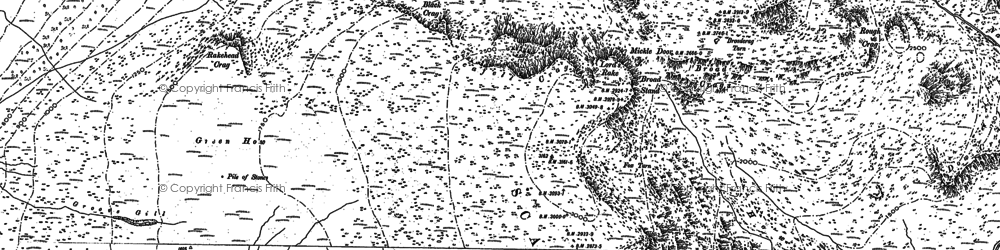 Old map of Sca Fell in 1897