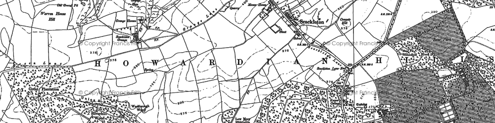 Old map of Wiganthorpe in 1889