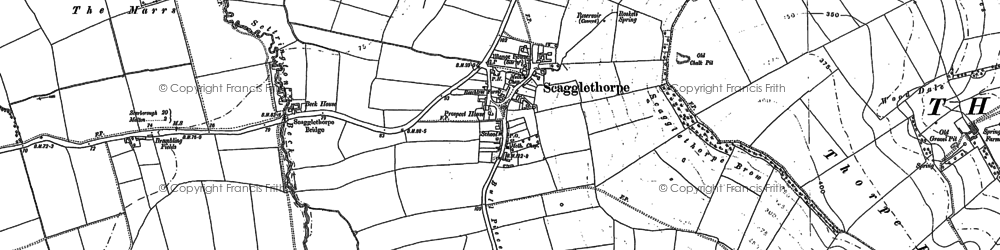 Old map of Whinflower Hall in 1889