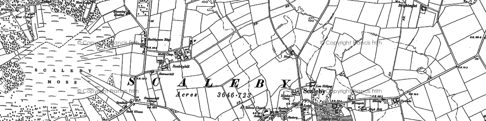 Old map of Whitehill in 1899