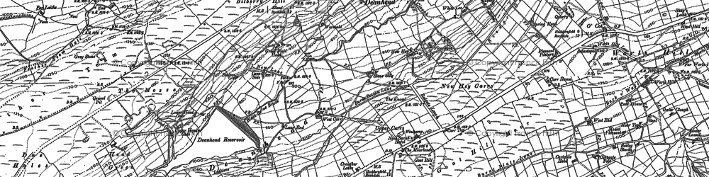 Old map of Worts Hill in 1890