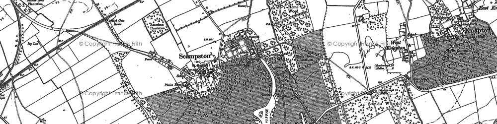Old map of Scampston in 1889