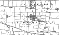 Old Map of Scampton, 1885