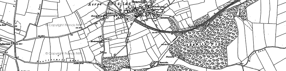 Old map of Langwith Wood in 1897