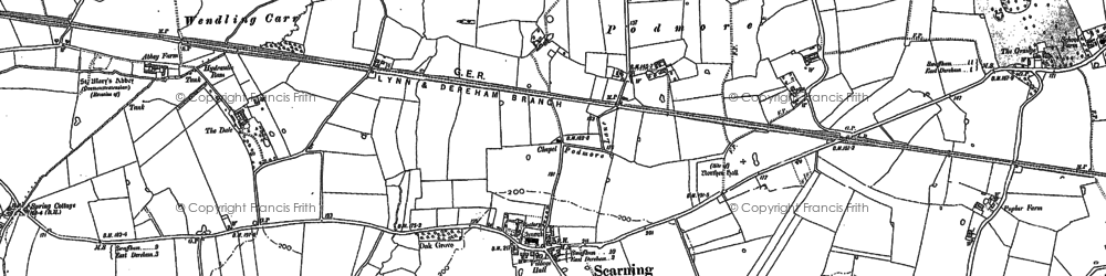 Old map of Scarning in 1882