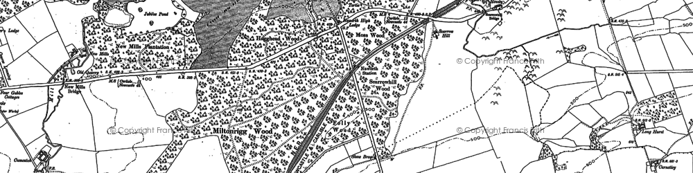 Old map of Naworth Park in 1899