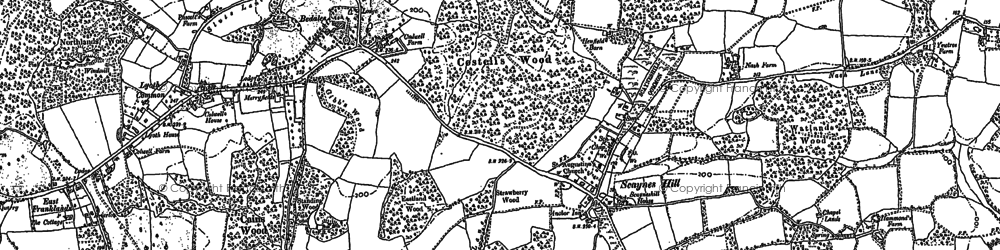 Old map of Abbots Leigh in 1896