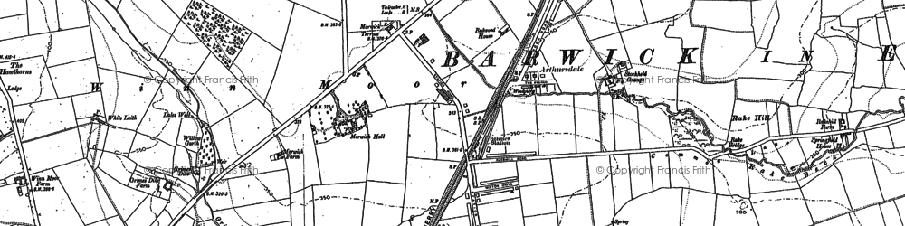 Old map of Whinmoor in 1891