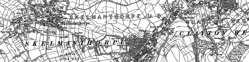 Old map of Bagden Hall in 1891